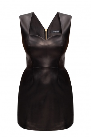 Leather slip dress od Versace
