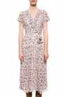 'alix' dress with tie fastening od AllSaints