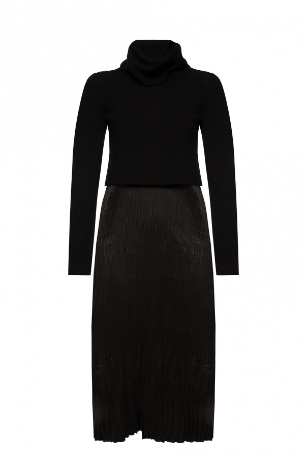 AllSaints 'Ansel 'slip dress and turtleneck sweater set