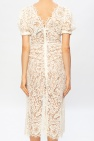 Self Portrait Openwork dress with puff sleeves