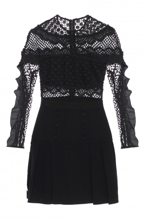 Lace dress with flared bottom od Self Portrait