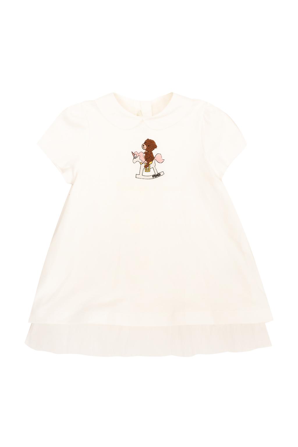Fendi Kids Tulle-trimmed dress
