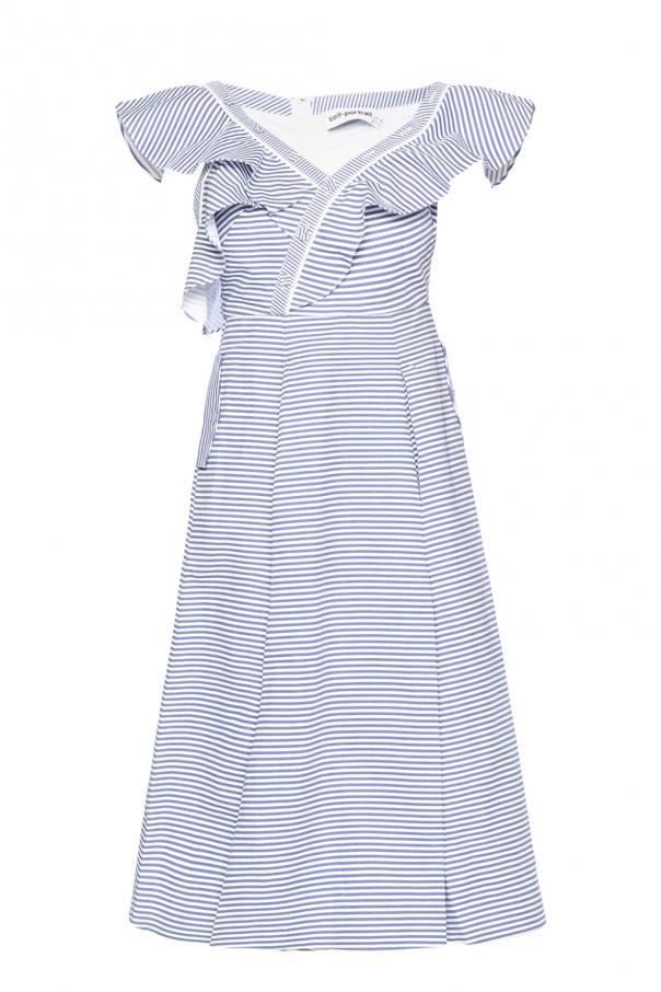 dbd23542339a Asymmetric striped dress Self Portrait - Vitkac shop online
