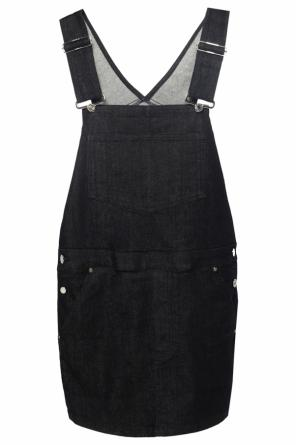 Denim dress with suspenders od Givenchy