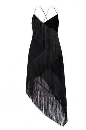 Asymmetrical dress finished with fringes od Givenchy