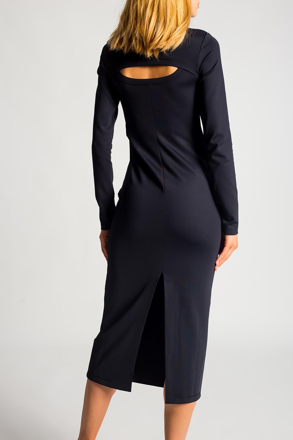 Ambush Dress with standing collar