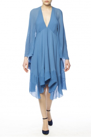 Asymmetrical v-neck dress od Chloe