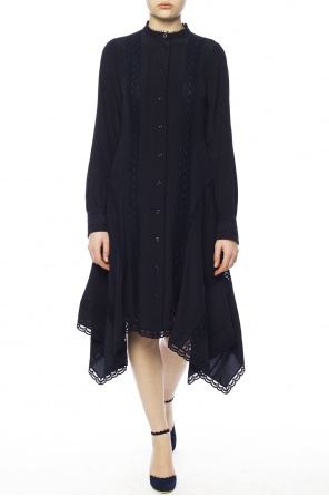Asymmetrical lace dress od Chloe