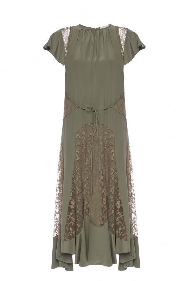 Lace Trim Dress Chloe Vitkac Shop Online