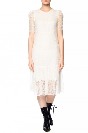 Ruffled openwork dress od See By Chloe
