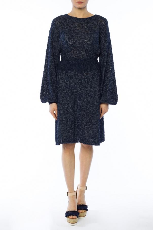 woven dress see by chloe vitkac shop online. Black Bedroom Furniture Sets. Home Design Ideas