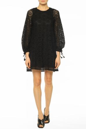 Dress with lace-up sleeves od See By Chloe