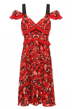 Floral motif pleated dress od Self Portrait