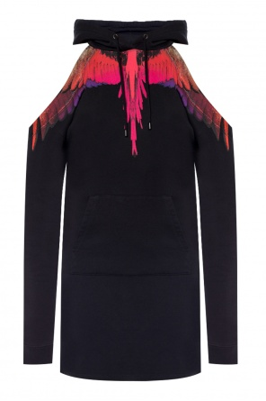 Sweatshirt dress with denuded shoulders od Marcelo Burlon