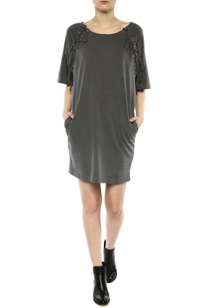 Lacing detail sweatshirt dress od Diesel