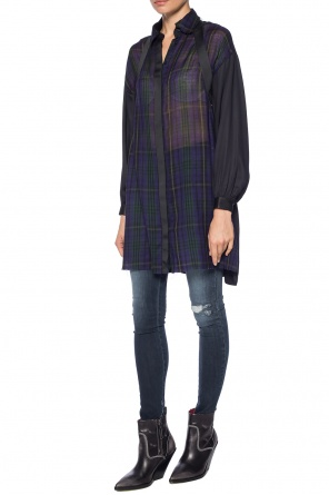 Dress with a plaid pattern od Diesel