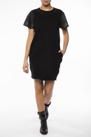 Dress with leather sleeves od Diesel