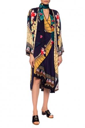 Patterned silk dress od Etro