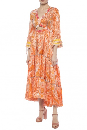 Asymmetrical dress with ruffles od Etro