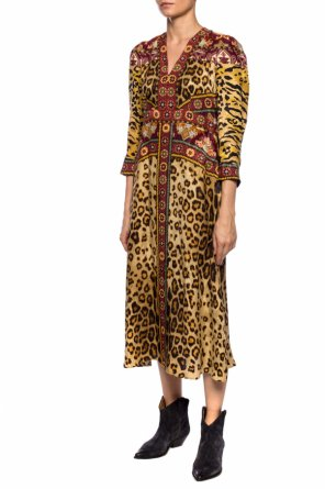 Patterned dress with long sleeves od Etro