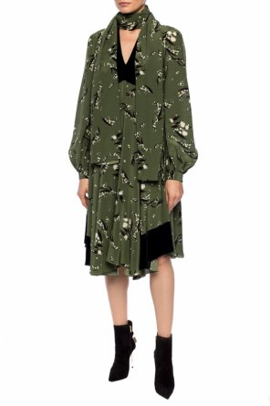Patterned long sleeve dress od Etro