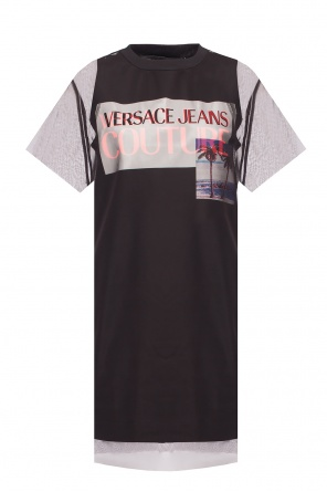 Dress with tulle trim od Versace Jeans Couture