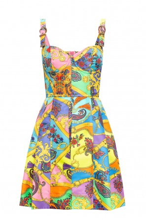 Patterned slip dress od Versace Jeans Couture