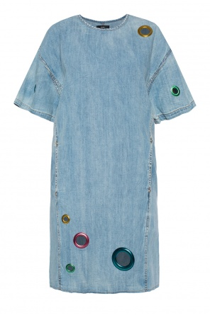 Short denim dress with rings od Diesel