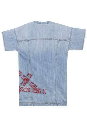 Short sleeve denim dress od Diesel