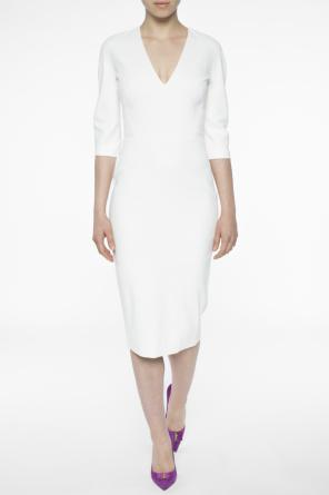 Fitted v-neck dress od Victoria Beckham