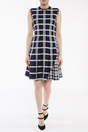 Flared check dress od Victoria Beckham