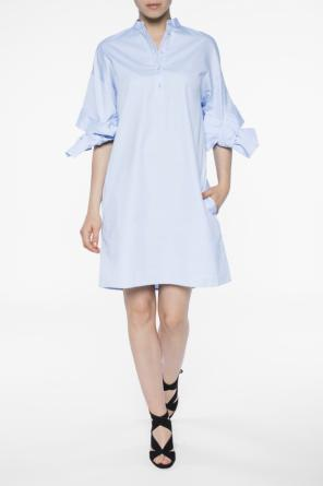 Dress with lace-up sleeves od Victoria Victoria Beckham