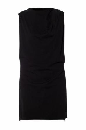 Asymmetrical sleeveless dress od Rick Owens DRKSHDW