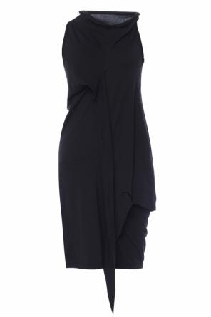 Asymmetrical dress with tie od Rick Owens DRKSHDW