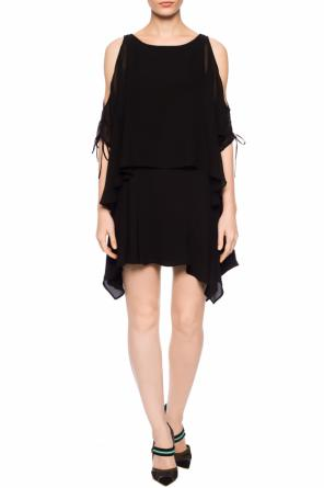 'ella sheer' ruffled dress od AllSaints
