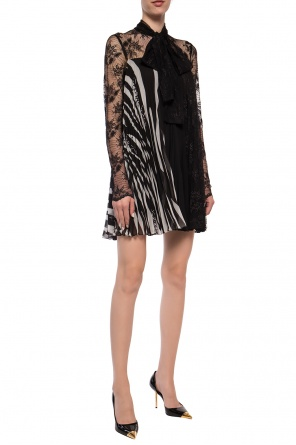Pleated dress with decorative fastening od Philipp Plein