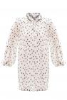 Ganni Pleated polka dot dress