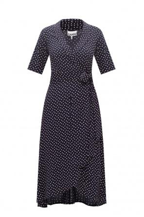 Patterned short sleeve dress od Ganni