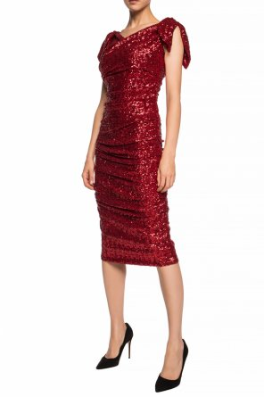 Sequined dress with gathers od Dolce & Gabbana