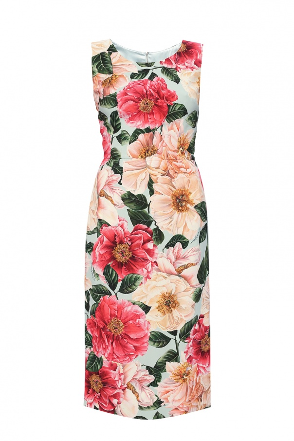 Dolce & Gabbana Floral-printed sleeveless dress