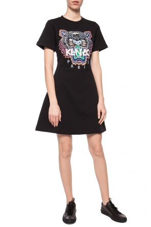 Dress with embroidered tiger head od Kenzo