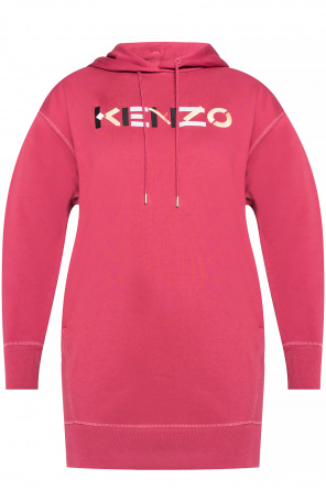 Long hoodie with logo od Kenzo