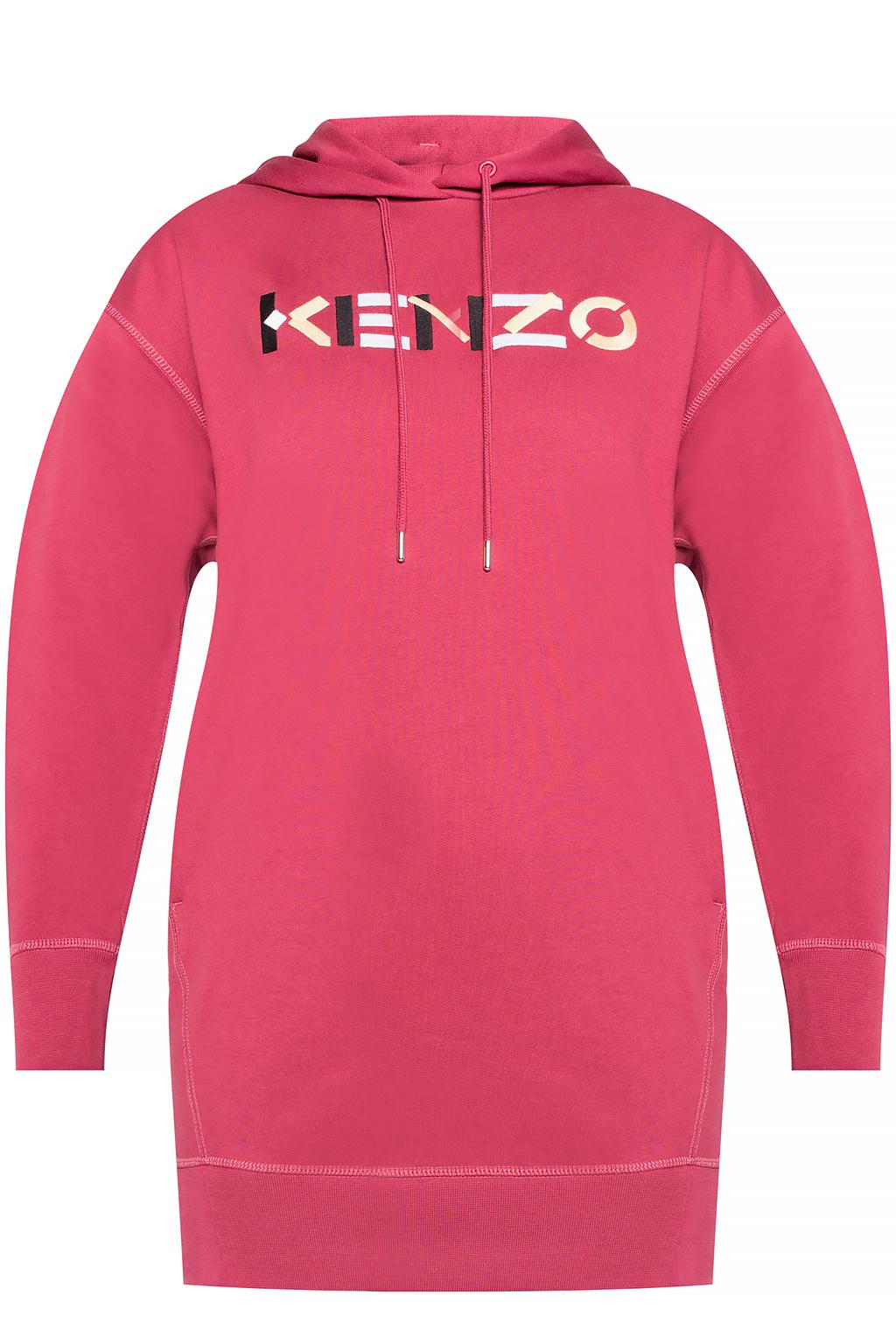 Kenzo Long hoodie with logo