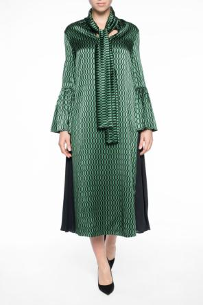 Dress with geometric pattern od Fendi