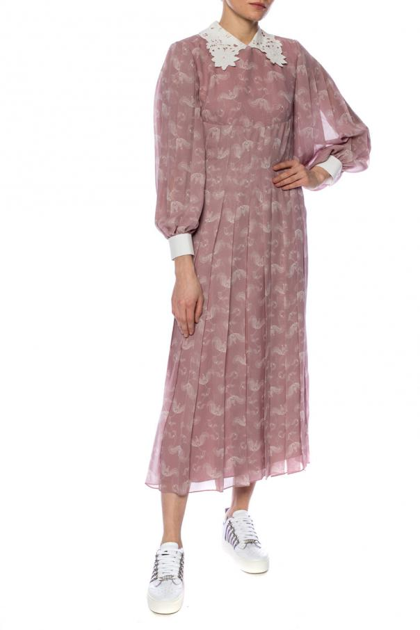 Decorative collar dress od Fendi