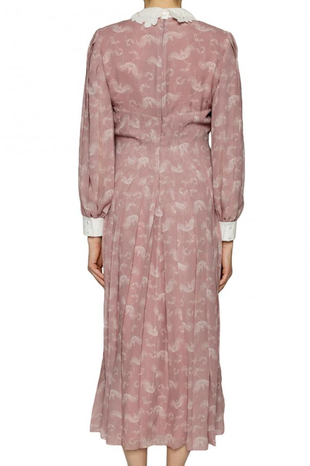 Decorative collar dress od Fendi