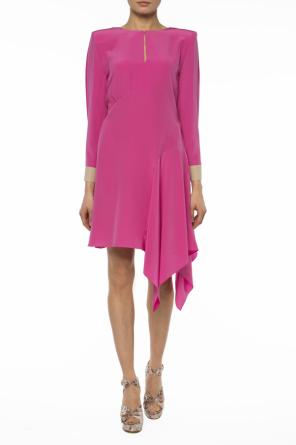 Asymmetrical silk dress od Fendi