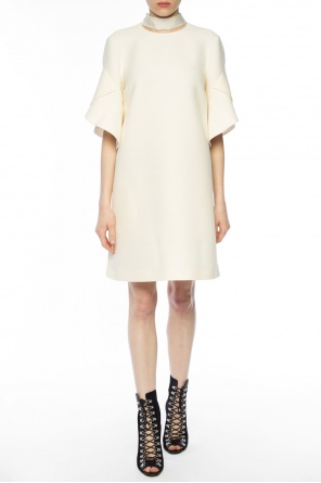 Decorative lacing dress od Fendi