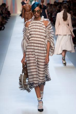 Striped dress od Fendi