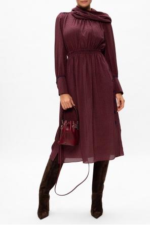 Patterned long sleeve dress od Fendi